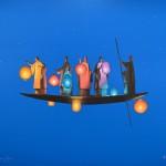 le voyage des lampions 100x81 cm